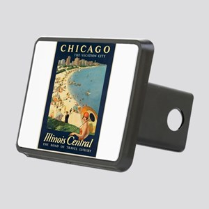 Vintage poster - Chicago Rectangular Hitch Cover