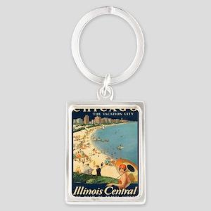 Vintage poster - Chicago Keychains
