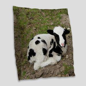Goat 003 Burlap Throw Pillow