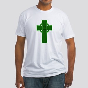Green Celtic Cross Fitted T-Shirt