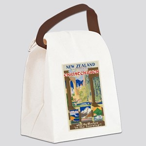 Vintage poster - Christchurch Canvas Lunch Bag