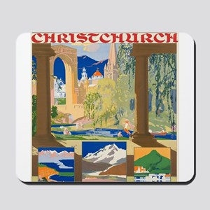 Vintage poster - Christchurch Mousepad