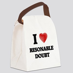 I Love Resonable Doubt Canvas Lunch Bag