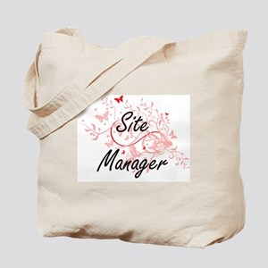 Site Manager Artistic Job Design with But Tote Bag