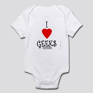 I Love Geeks Now Fix My Compu Infant Bodysuit