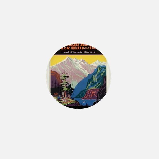 Vintage poster - Colorado Rocky Mounta Mini Button