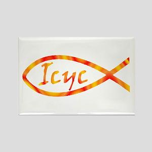 Ukrainian Jesus Fish Rectangle Magnet