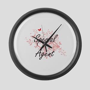 Special Agent Artistic Job Design Large Wall Clock