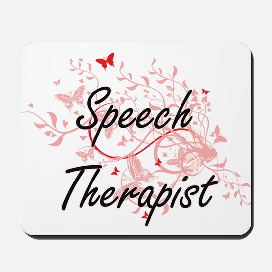 Speech Therapist Artistic Job Design wit Mousepad