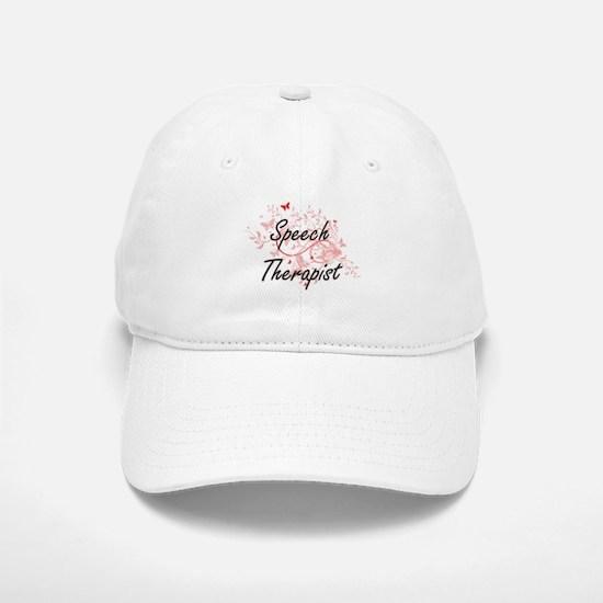 Speech Therapist Artistic Job Design with Butt Baseball Baseball Cap