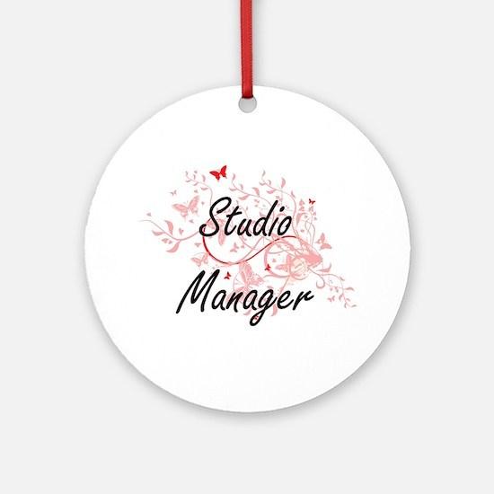 Studio Manager Artistic Job Design Round Ornament