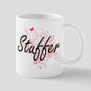 Stuffer Artistic Job Design with Butterflies Mugs