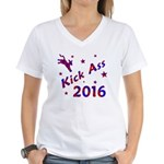 Kick Ass 2016 * Women's V-Neck T-Shirt