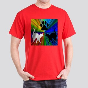 RAINBOW PAW CATS Dark T-Shirt