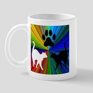 RAINBOW CATS LEFT-HANDED Mug