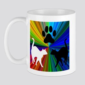 RAINBOW CATS LEFT-HANDED Mug