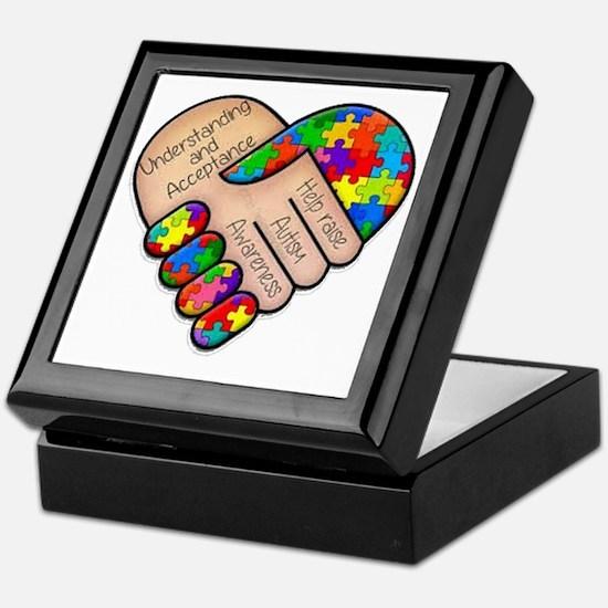 Unique Autism awareness Keepsake Box