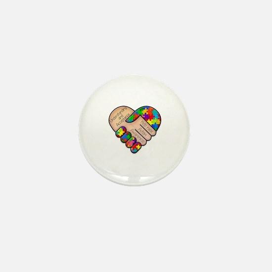 Cute Autism heart Mini Button
