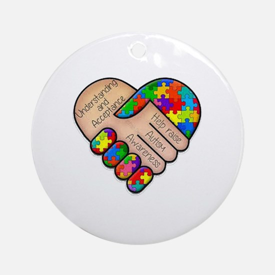 Cute Autism heart Round Ornament
