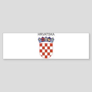 Croatia Arms with Name Bumper Sticker