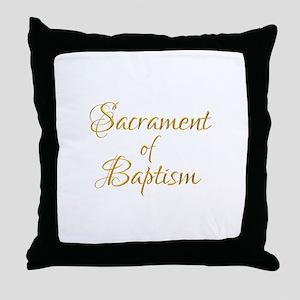 Sacrament of Baptism Throw Pillow