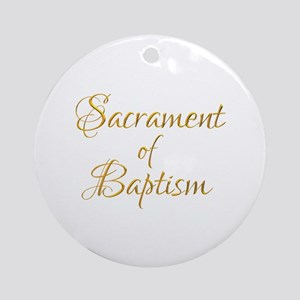 Sacrament of Baptism Round Ornament