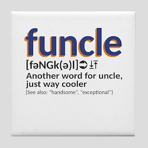 Funcle definition Tile Coaster
