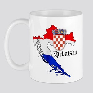 Croatia Flag Map Mug