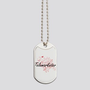 Telemarketer Artistic Job Design with But Dog Tags