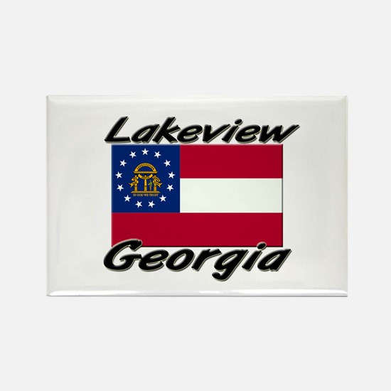 Lakeview Georgia Rectangle Magnet
