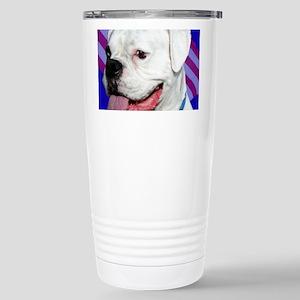 Patriotic Boxer Dog Stainless Steel Travel Mug