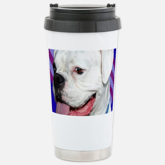 Patriotic Boxer Dog Stainless Steel Travel Mug