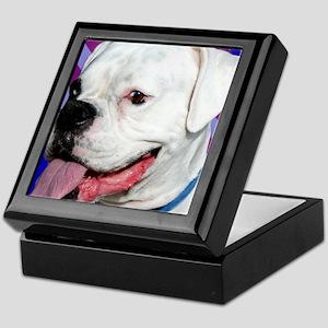 Patriotic Boxer Dog Keepsake Box