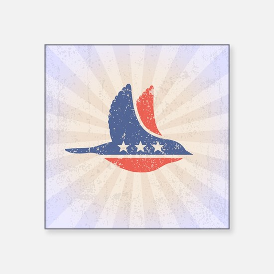 "Social Democrat Logo Square Sticker 3"" x 3"""