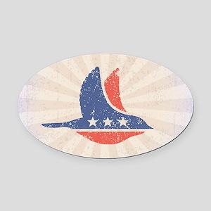 Social Democrat Logo Oval Car Magnet