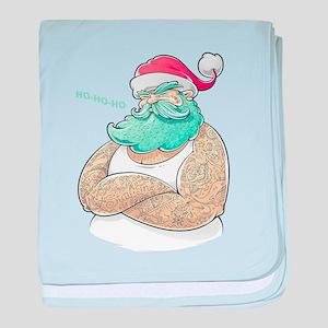 Modern Santa.Stay True.CHRISTMAS Gift baby blanket