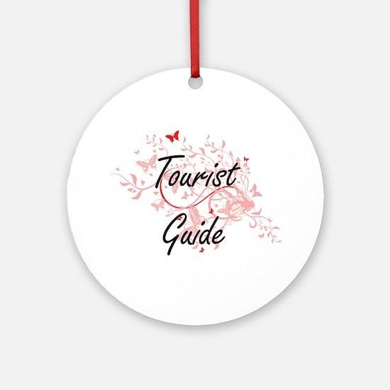 Tourist Guide Artistic Job Design w Round Ornament