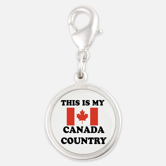 This Is My Canada Country Silver Round Charm