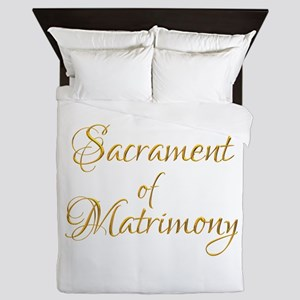 Sacrament of Matrimony Queen Duvet