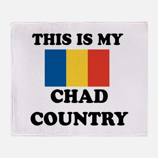 This Is My Chad Country Throw Blanket