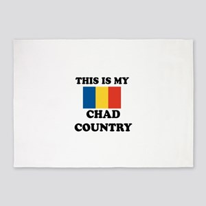 This Is My Chad Country 5'x7'Area Rug