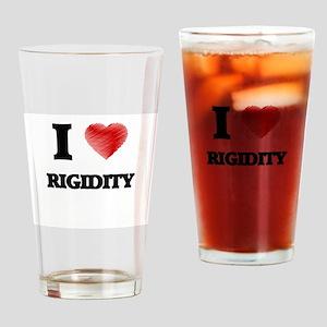 I Love Rigidity Drinking Glass