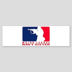 Major League Sis 2 - NAVY Bumper Sticker