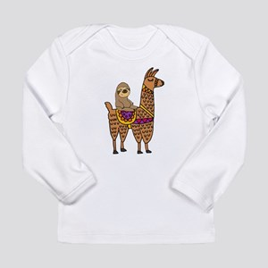 Cute Sloth Riding Llama Long Sleeve T-Shirt