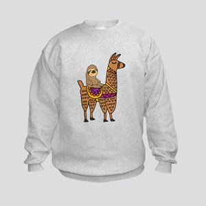 Cute Sloth Riding Llama Sweatshirt