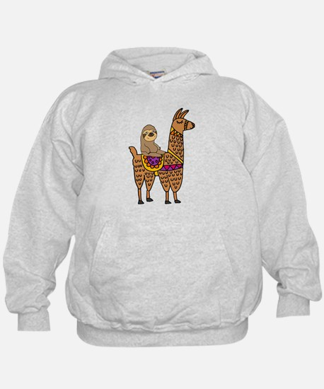 Cute Sloth Riding Llama Sweatshirt