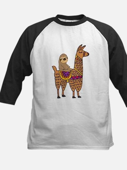 Cute Sloth Riding Llama Baseball Jersey