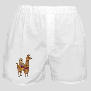 Cute Sloth Riding Llama Boxer Shorts