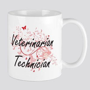 Veterinarian Technician Artistic Job Design w Mugs