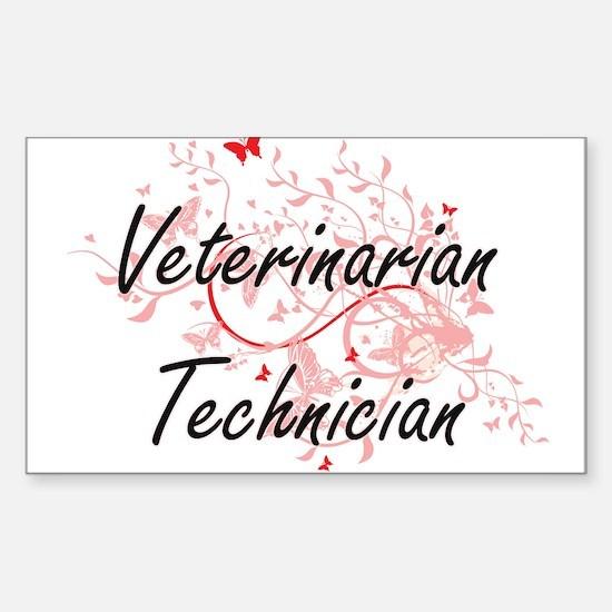 Veterinarian Technician Artistic Job Desig Decal